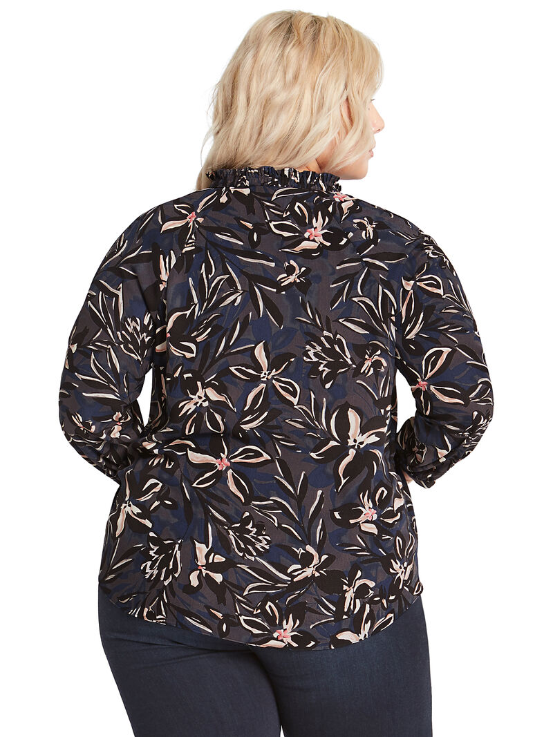 Inky Blooms Blouse image number 2