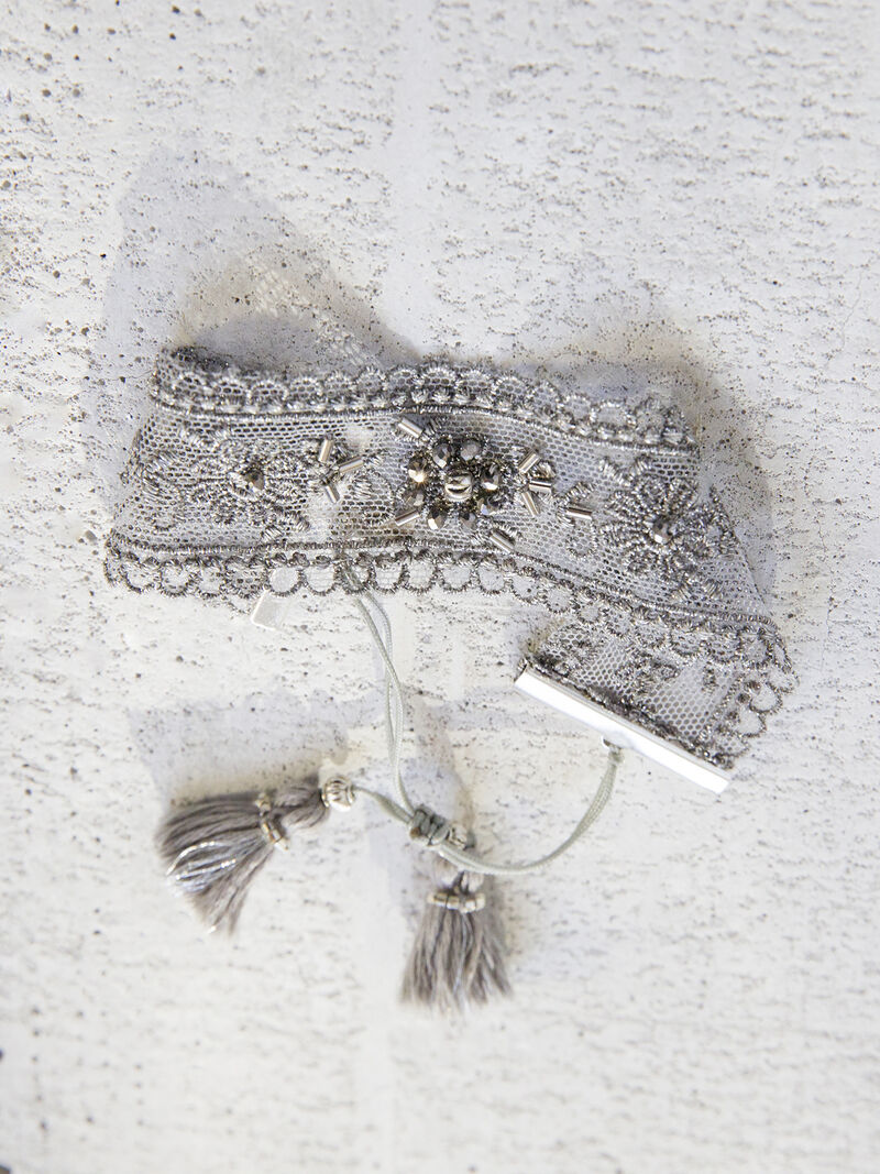 Chan Luu Lace & Crystal Cuff image number 0