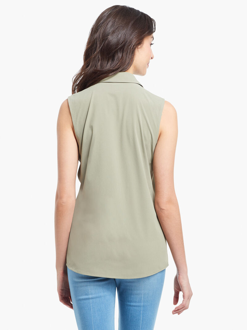 Tech Stretch Collared Tank image number 2