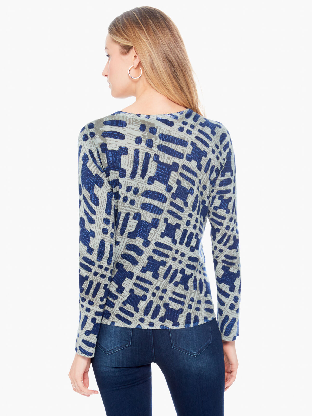 Ikat Camo Sweater