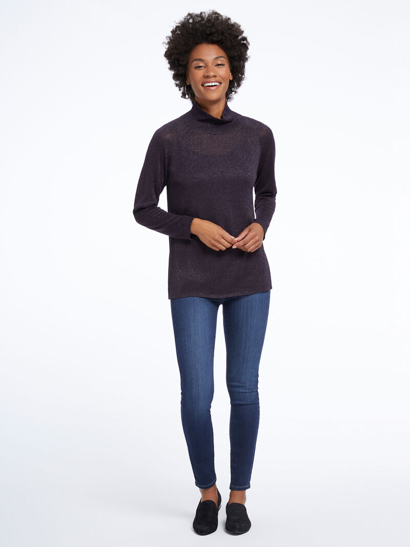 Metallic Turtleneck Sweater image number 3