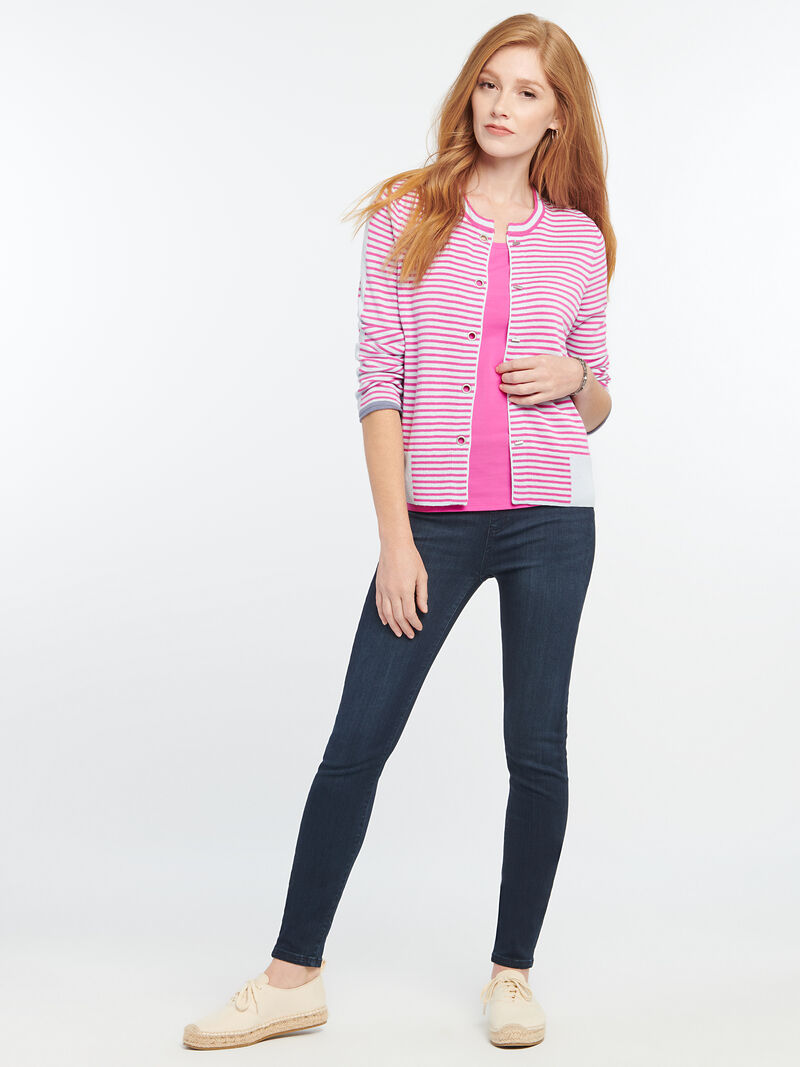 Striped Toggle Cardigan image number 3