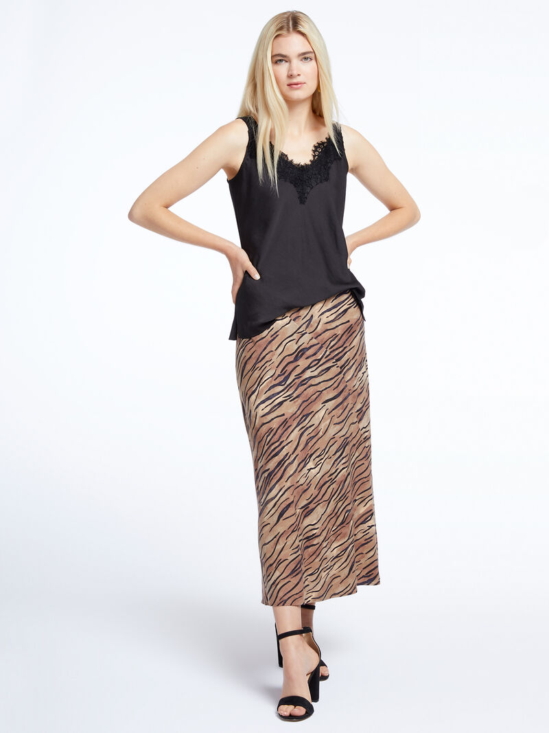 Tiger Stripes Midi Skirt