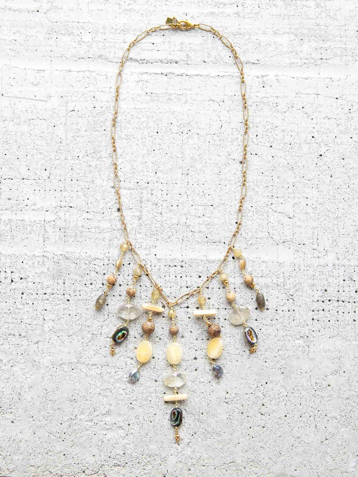 Chan Luu Mixed Stone Statement Necklace