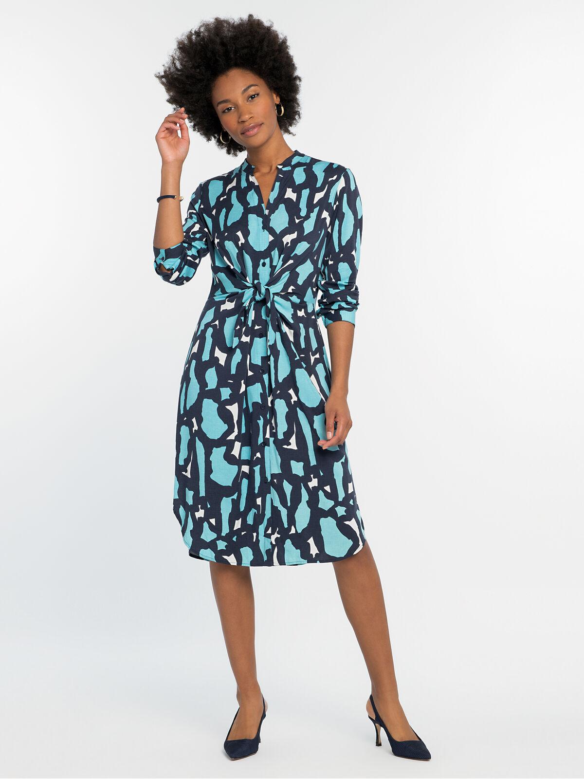 VIVID GIRAFFE TIE DRESS