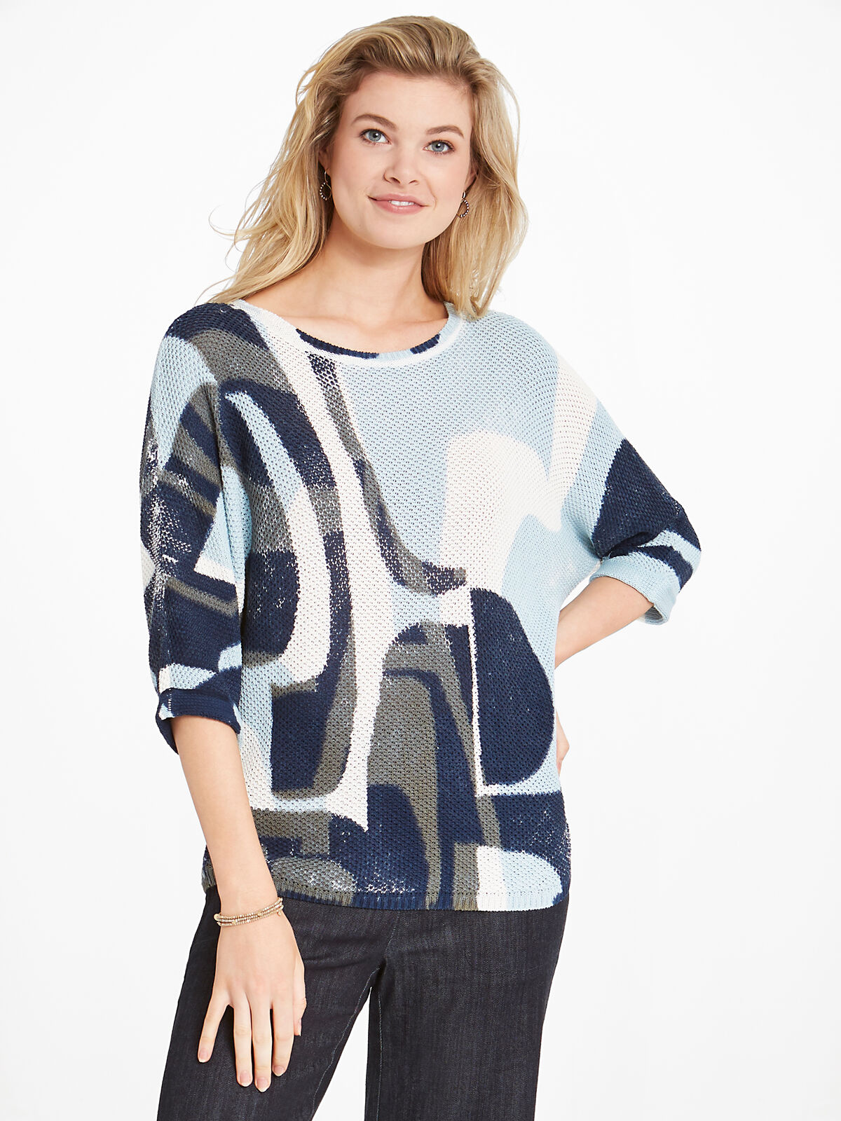 Shape Of Blue Sweater
