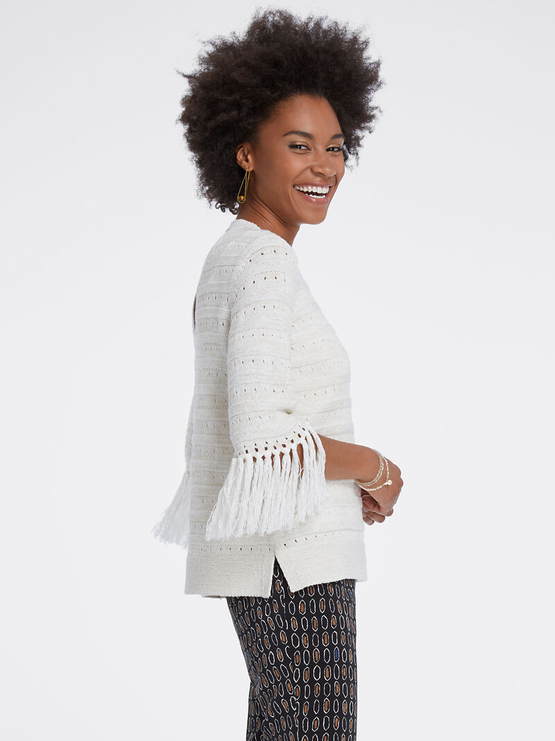Fringe Cuff Sweater
