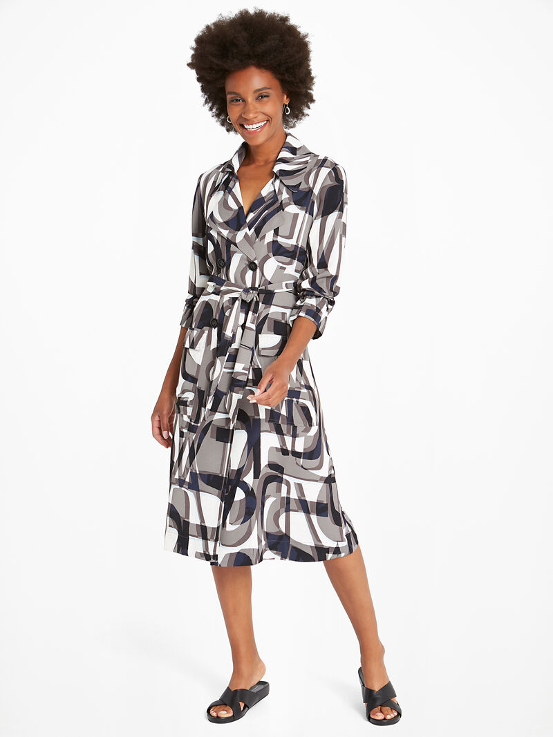 Alphabet Trench Dress image number 1