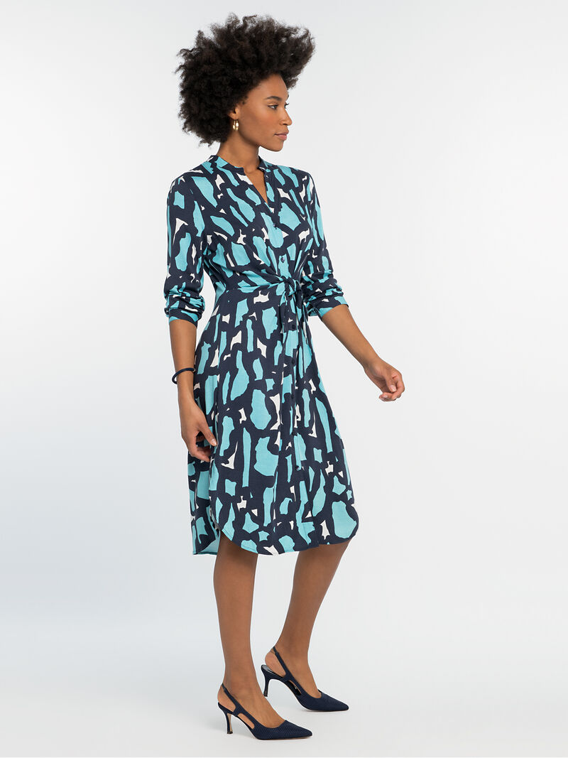 VIVID GIRAFFE TIE DRESS
