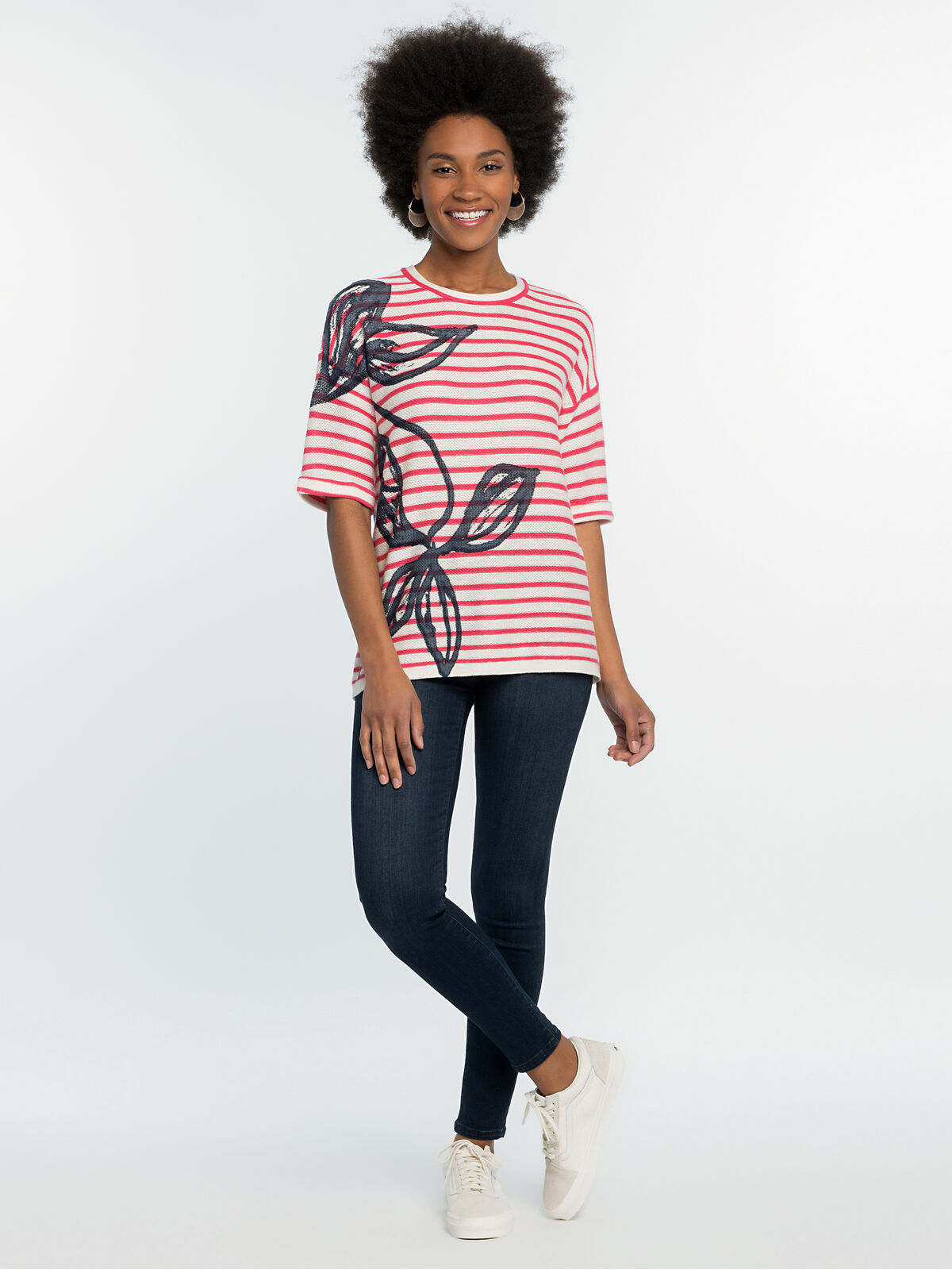Botanic Stripe Sweater