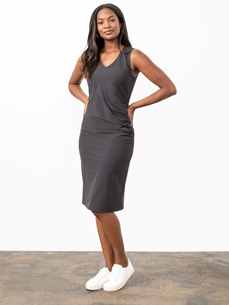 Tech Stretch Ruche Dress image number 0