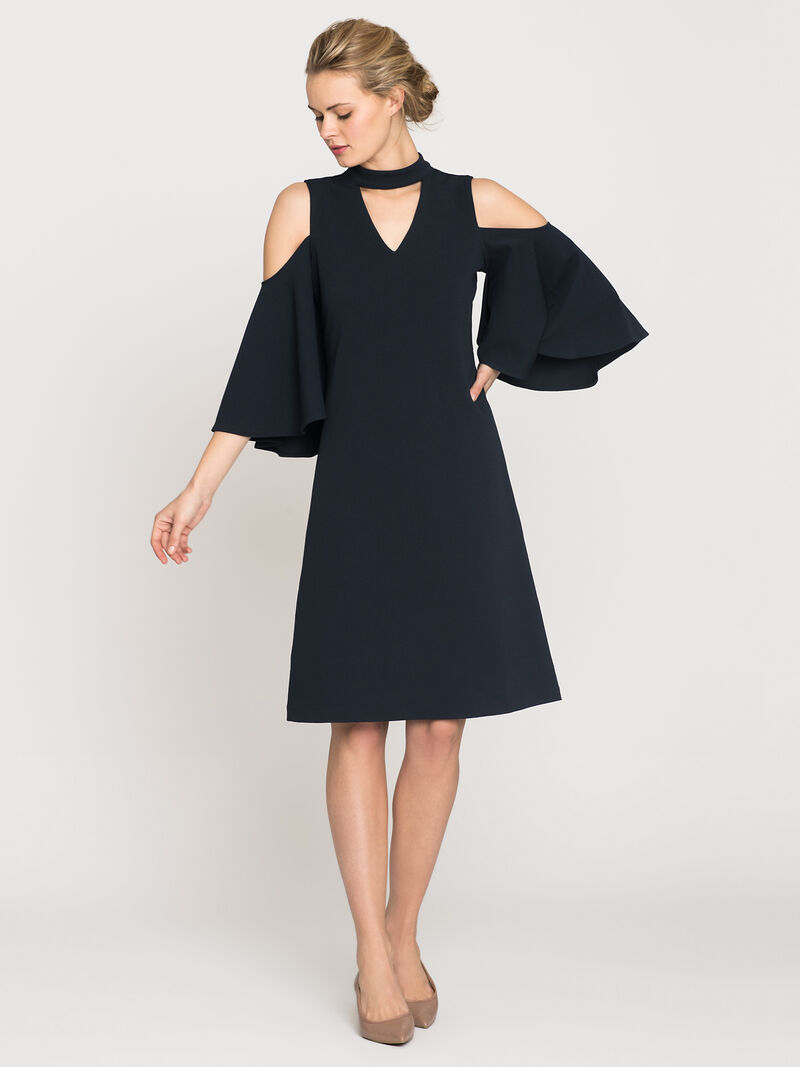 Textured Flutter Sleeve Dress image number 0