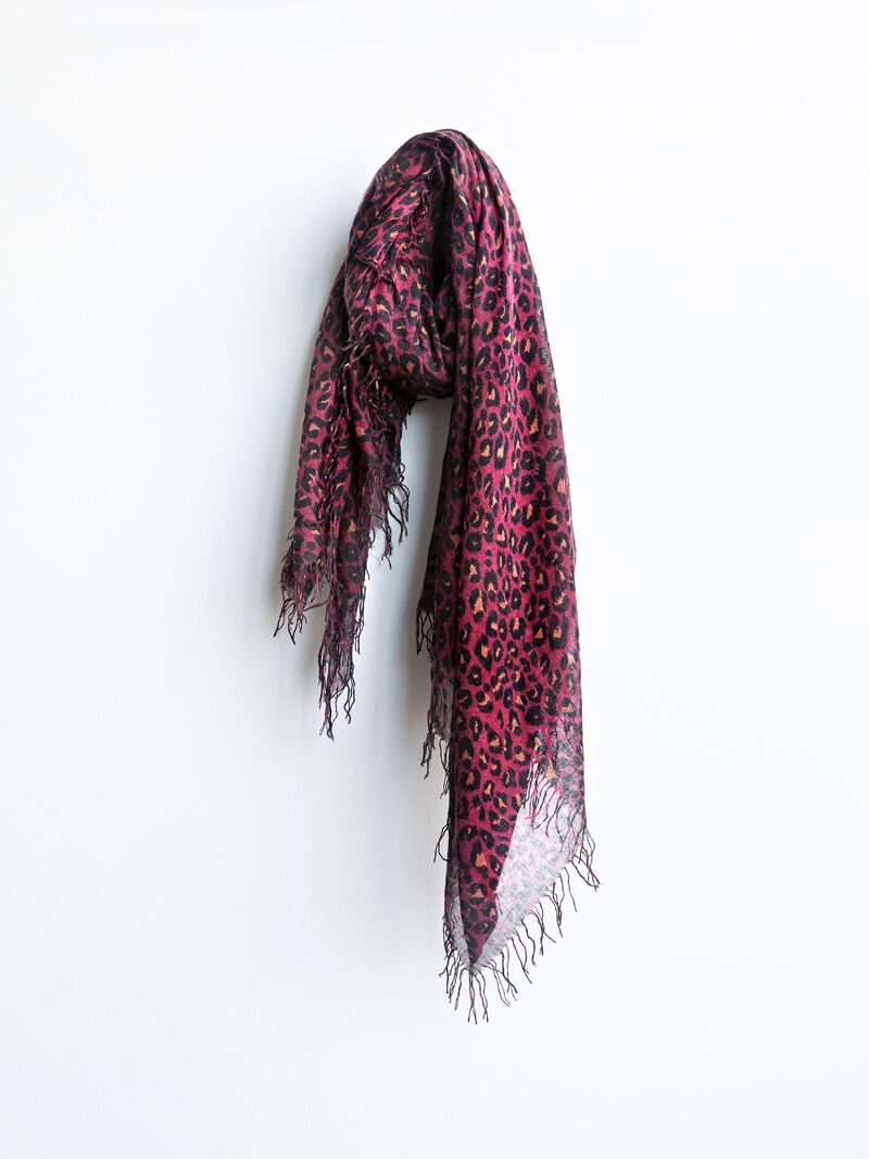 CHAN LUU-PRINTED ANIMAL SCARF