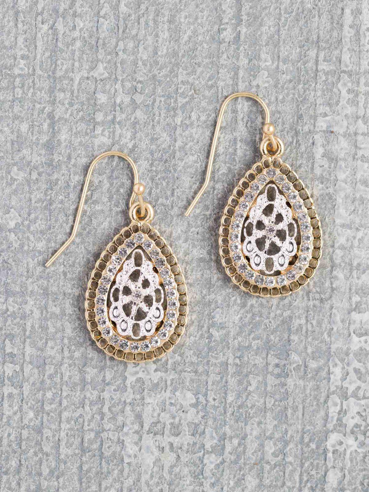 Marlyn Schiff Vintage Oval Earring