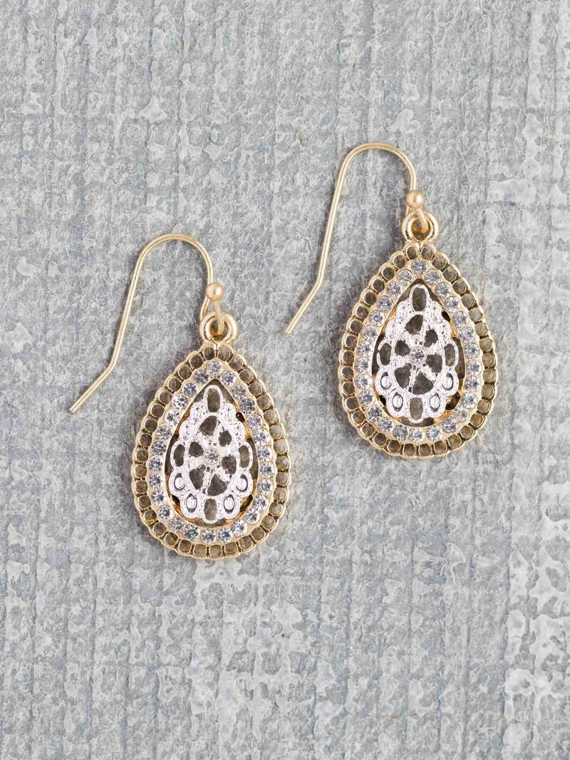 Marlyn Schiff Vintage Oval Earring image number 0