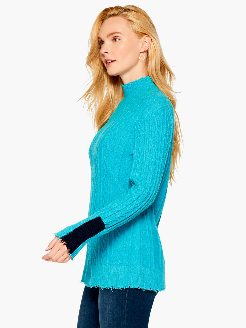Cozy Up Cable Turtleneck