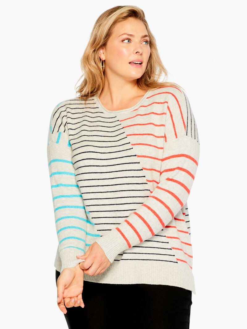 Cozy Up Striped Sweater