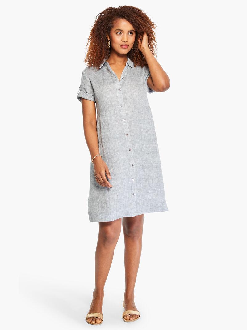Drifty Linen Shirt Dress image number 3