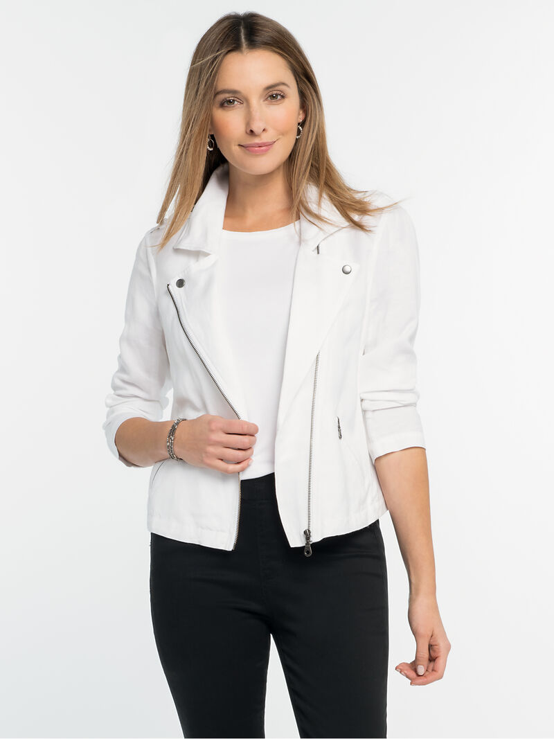 Linen Biker Jacketimage number 0
