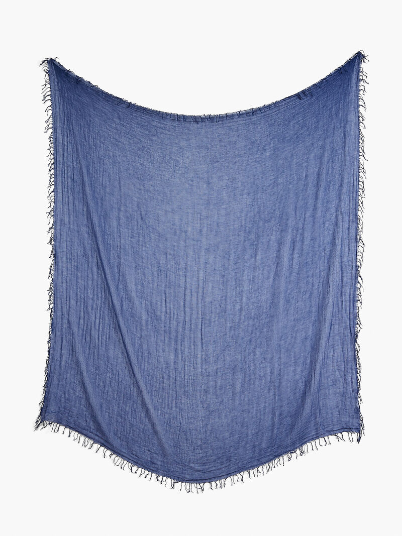 CHAN LUU SOLID SCARF WITH FRINGE EDGES image number 1