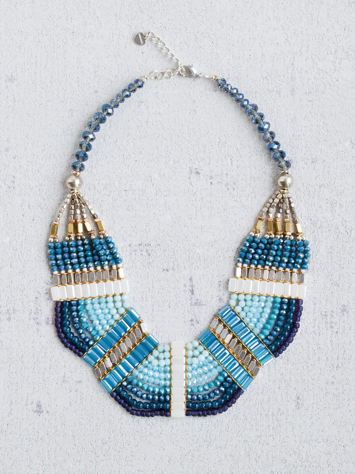 Nakamol - Blue Bead Statement Neckalce