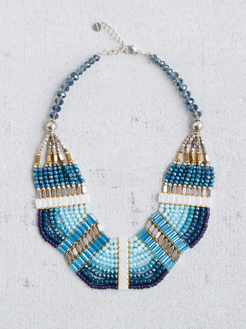 Nakamol - Blue Bead Statement Neckalce image number 0