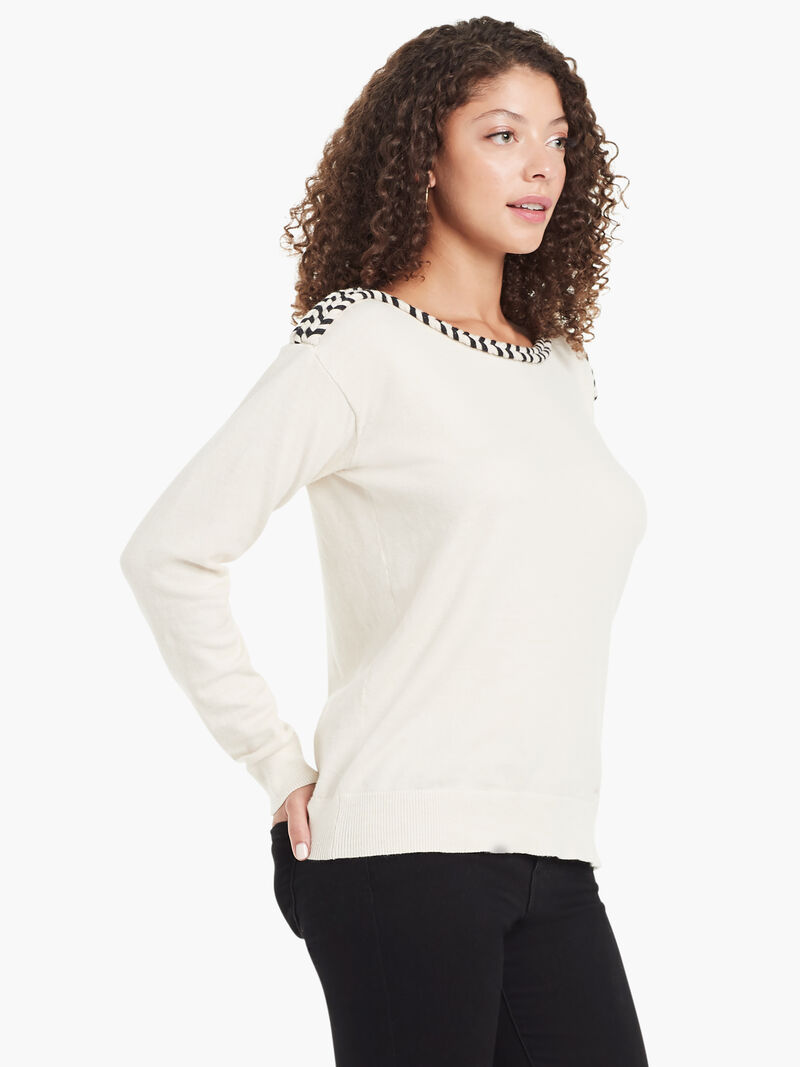 Laced Ribbon Sweater