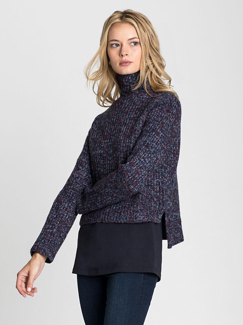 Mock Neck Crop Pullover image number 0