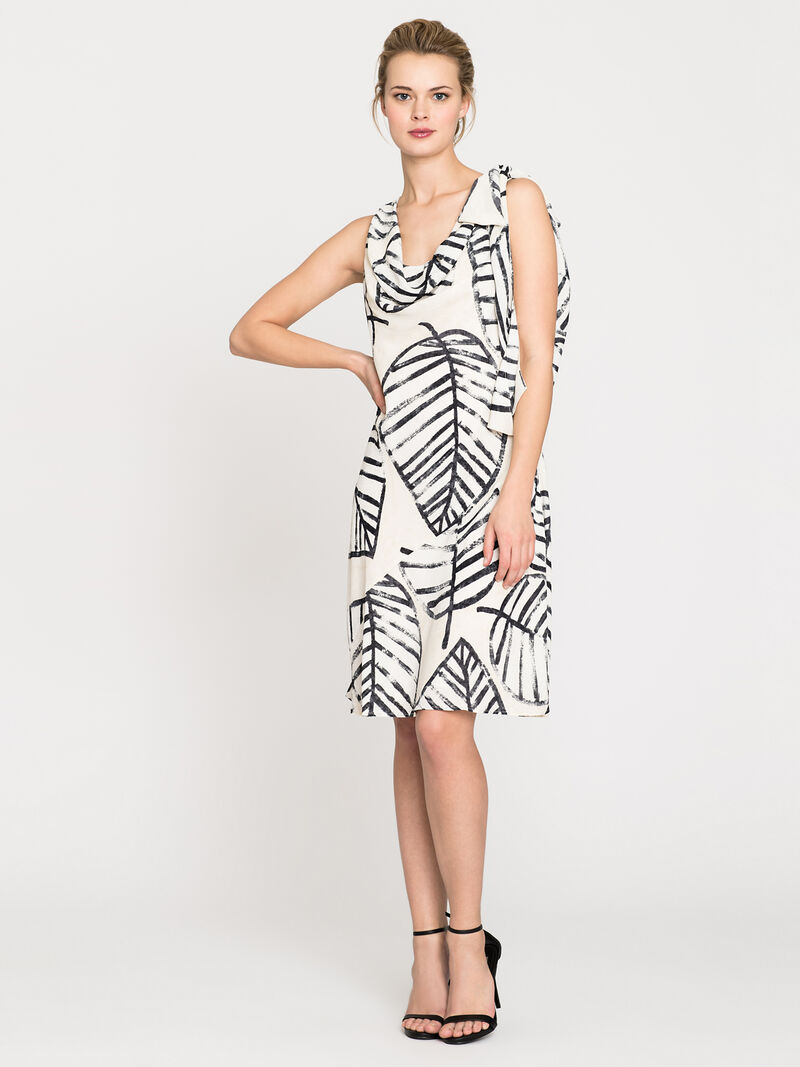 Etched Leaves Tie Dress image number 0
