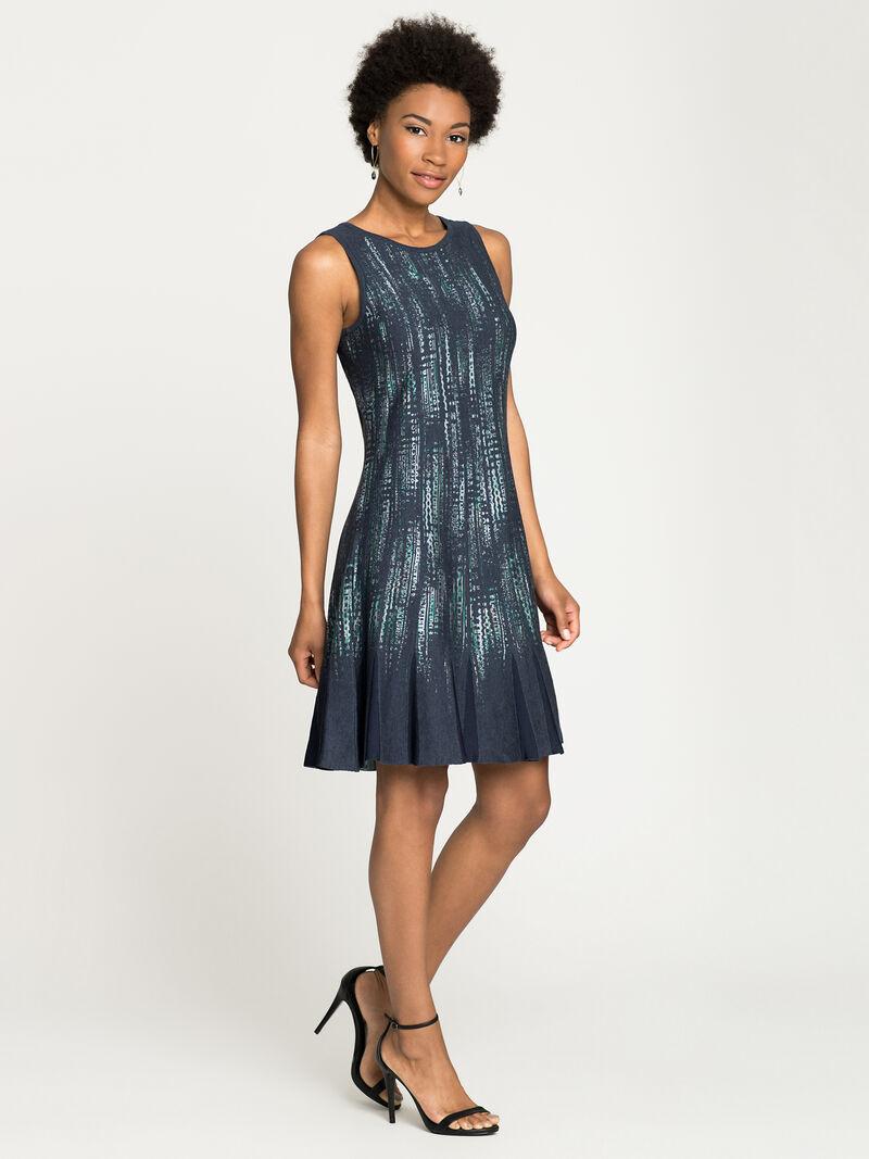 Lightening Streaks Twirl Dress