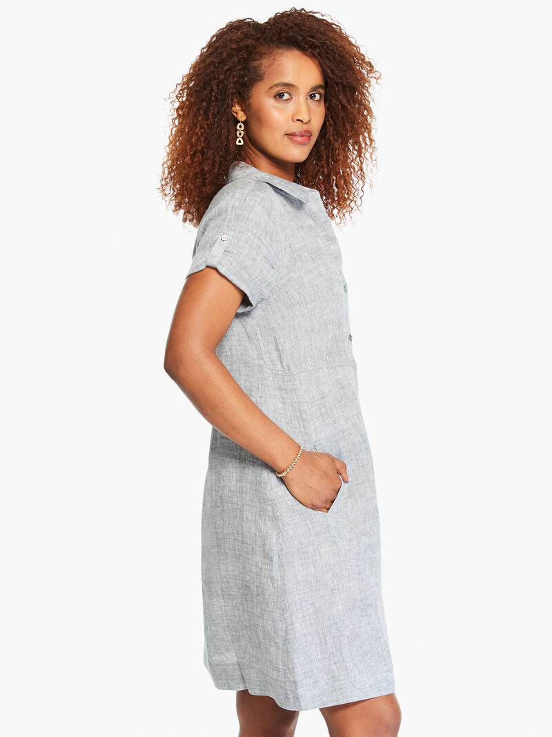 Drifty Linen Shirt Dress