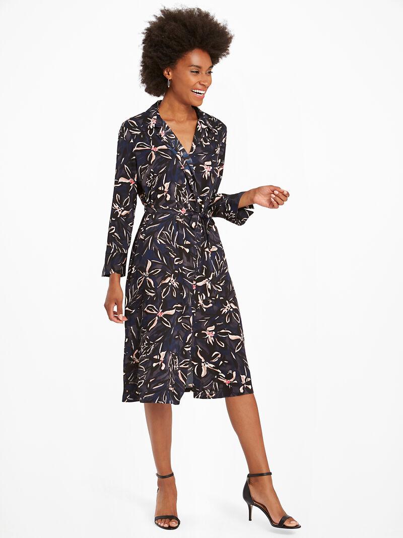 Inky Blooms Tie Dress image number 3