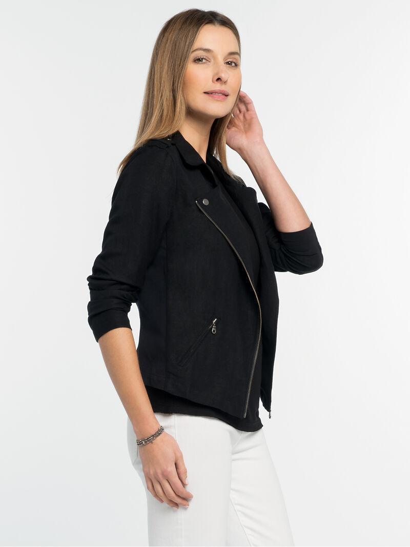 Linen Biker Jacket
