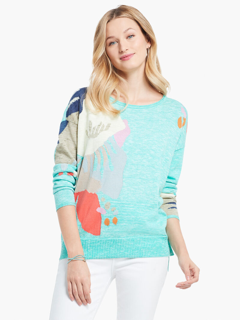 Petal Burst Sweater