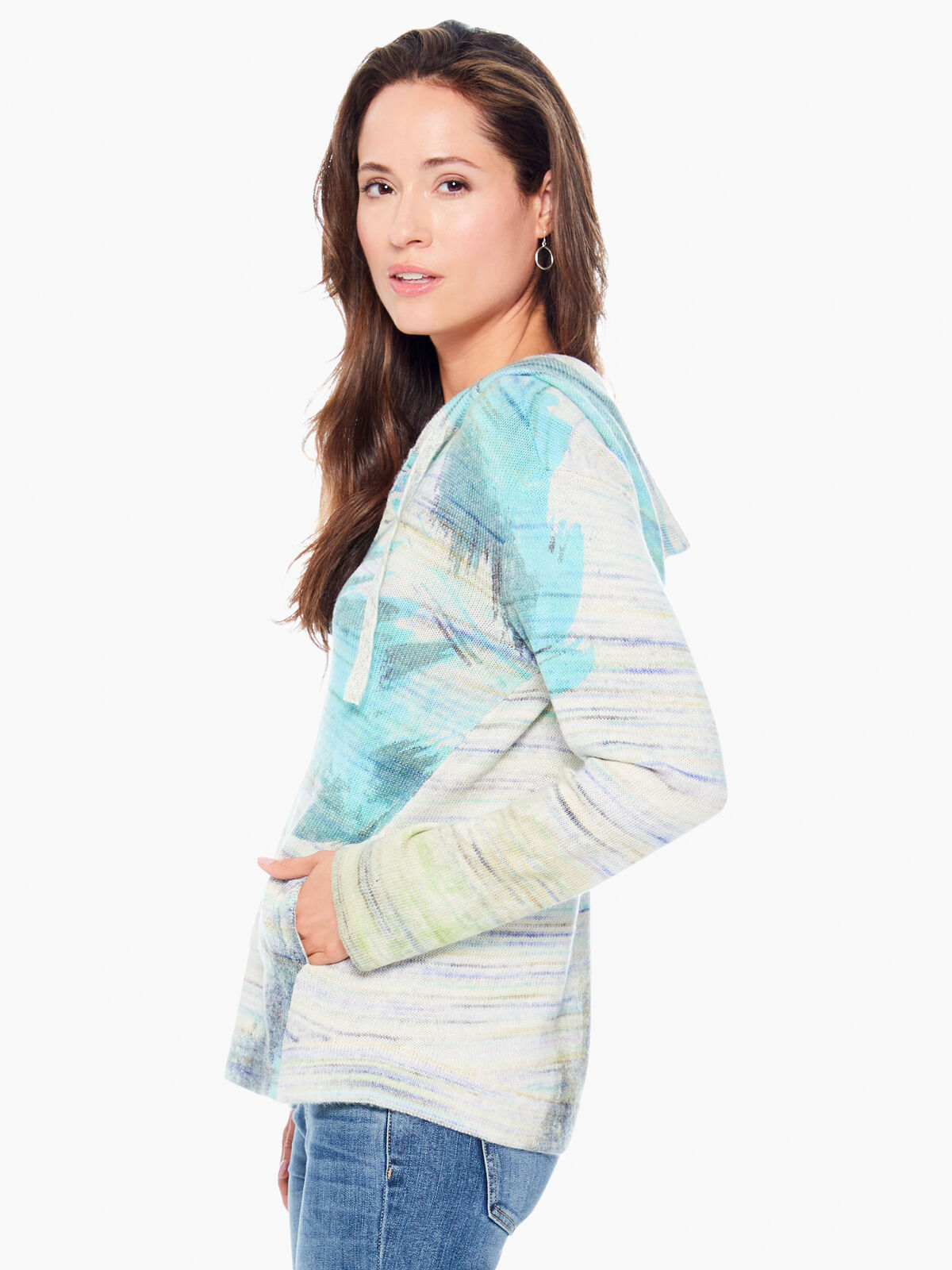 Watercolor Hooded Sweater