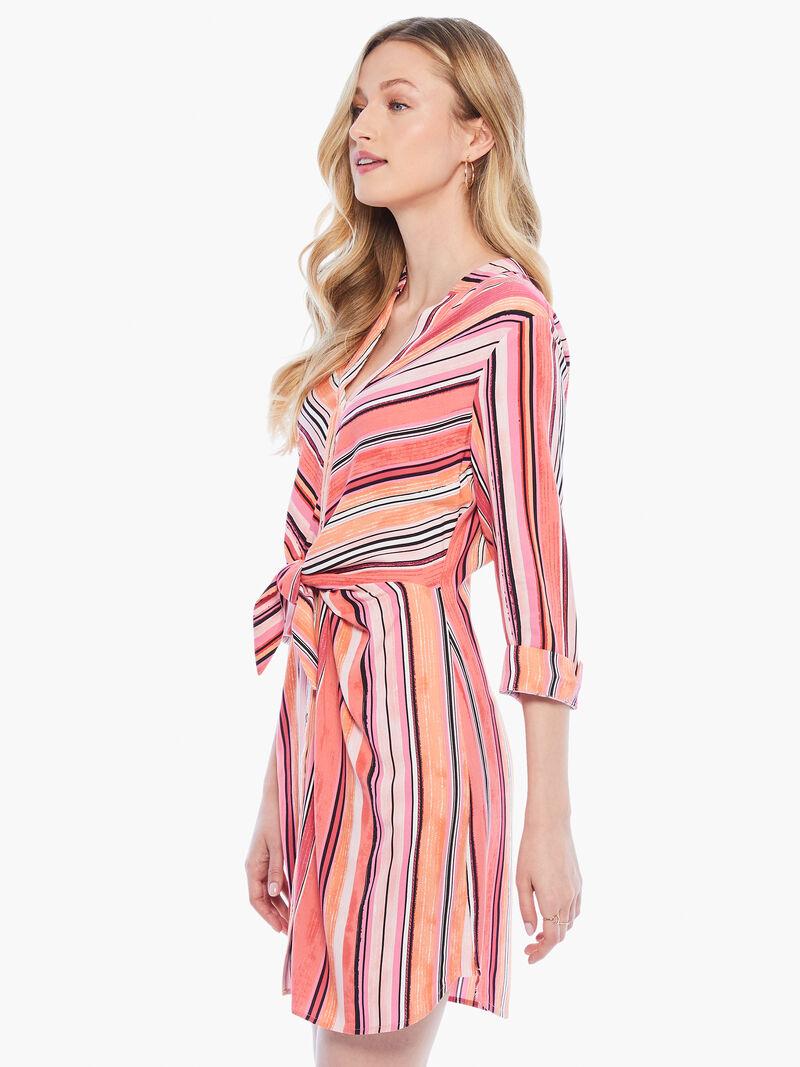 Sunset Stripe Shirt Dress