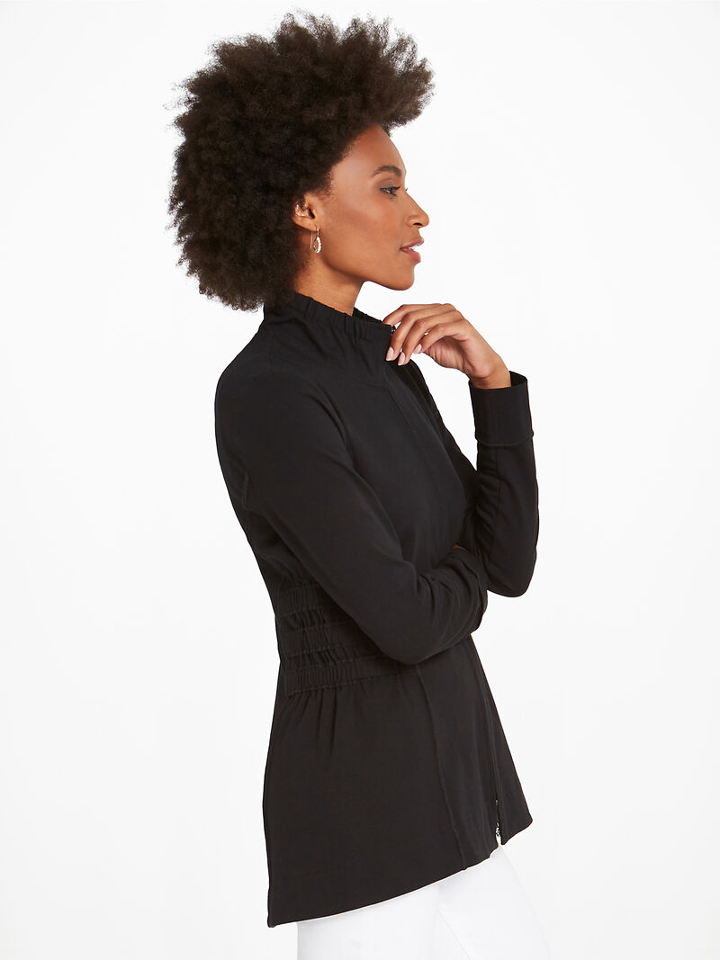 Perfect Knit Ruche Jacket image number 2
