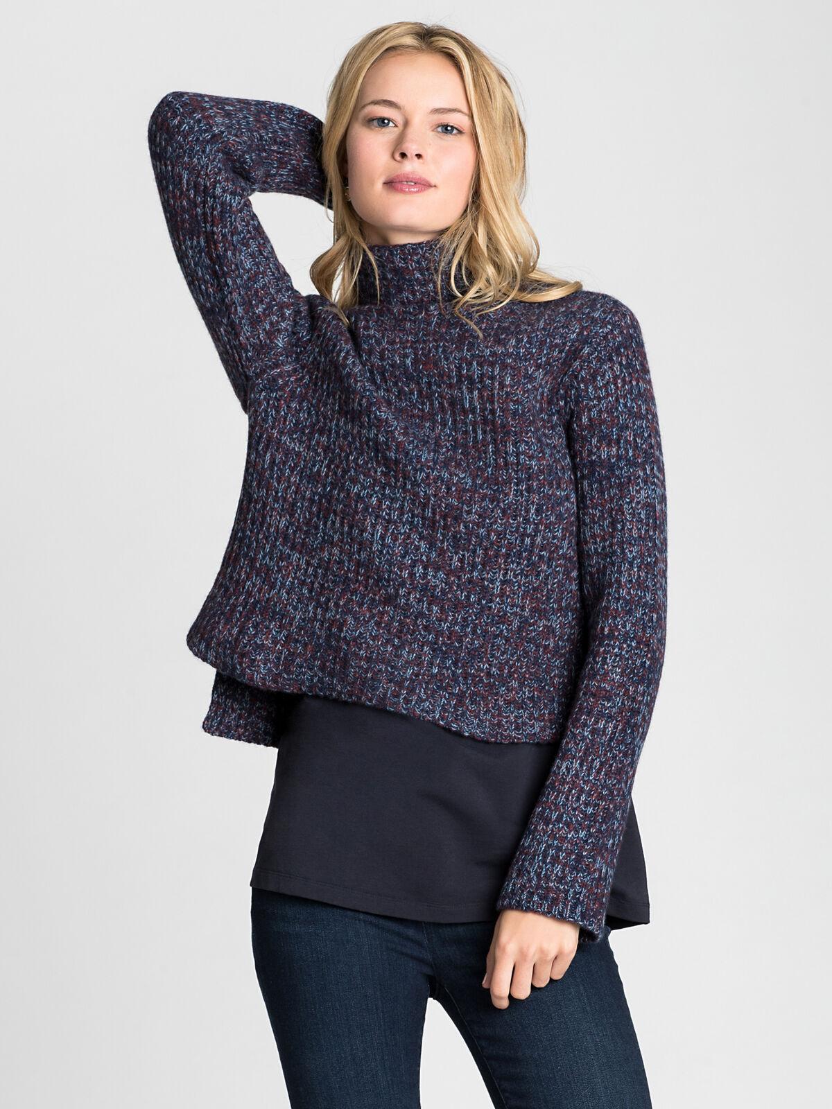 Mock Neck Crop Pullover