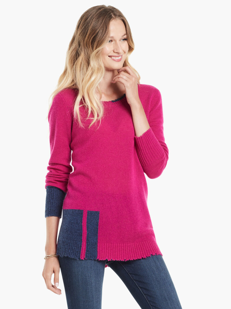 Colorblock Cashmere Sweater image number 0