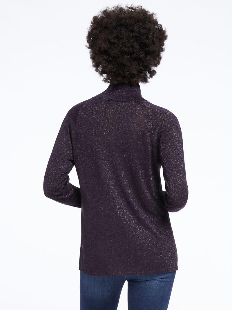 Metallic Turtleneck Sweater image number 2