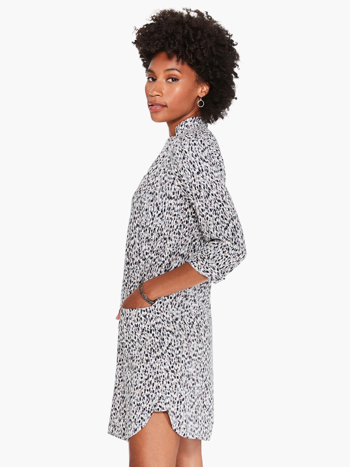 Textured Spot Live In Dress