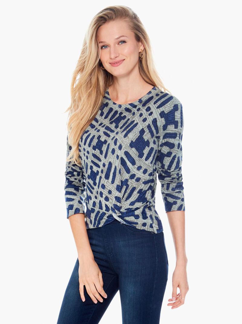 Ikat Camo Sweater image number 0