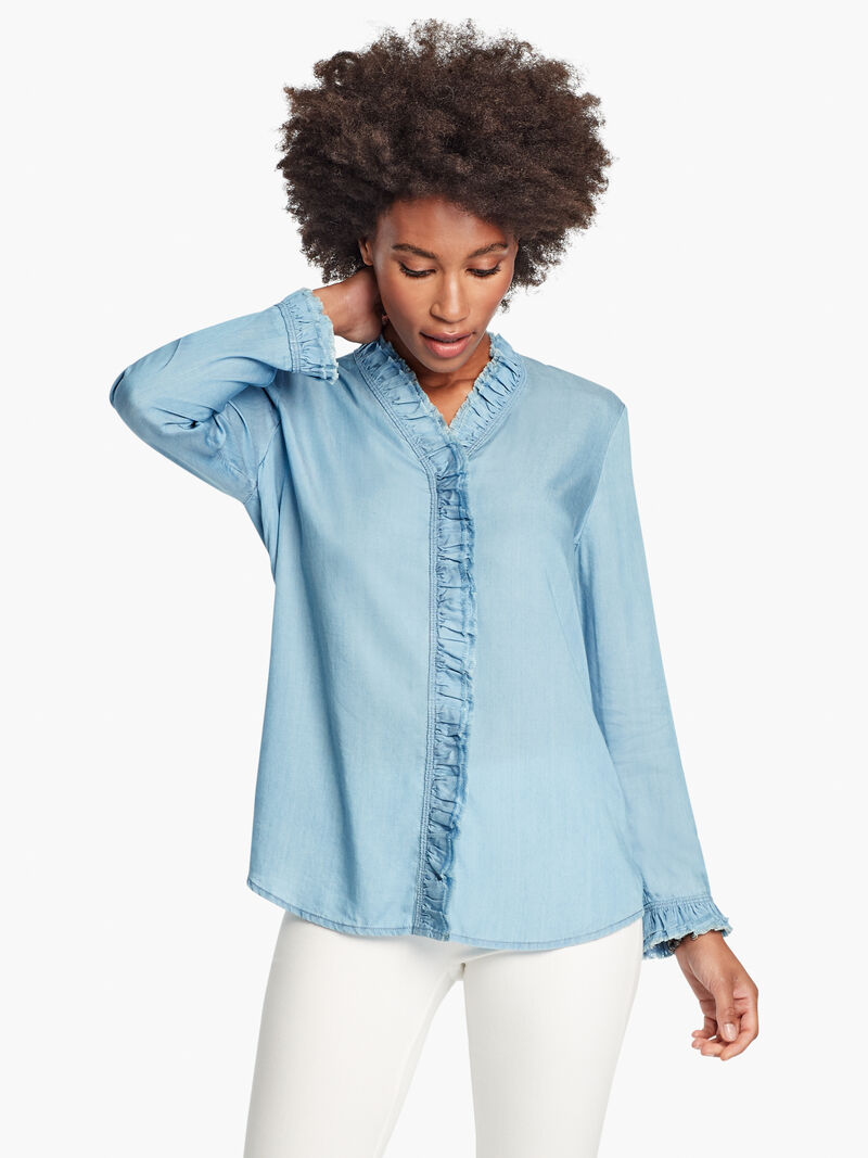 Ruffled Up Denim Shirt