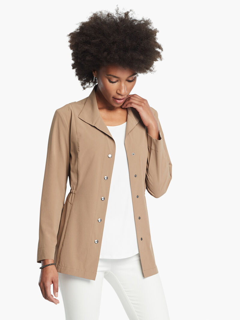 Tech Stretch Snap Front Jacket