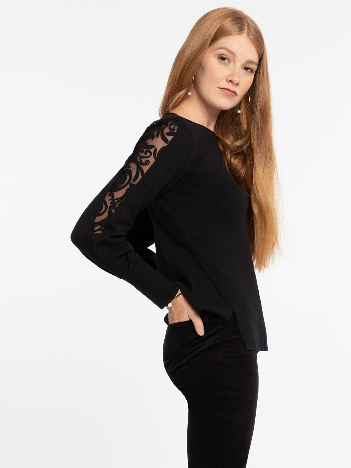 Flash Of Lace Sweater