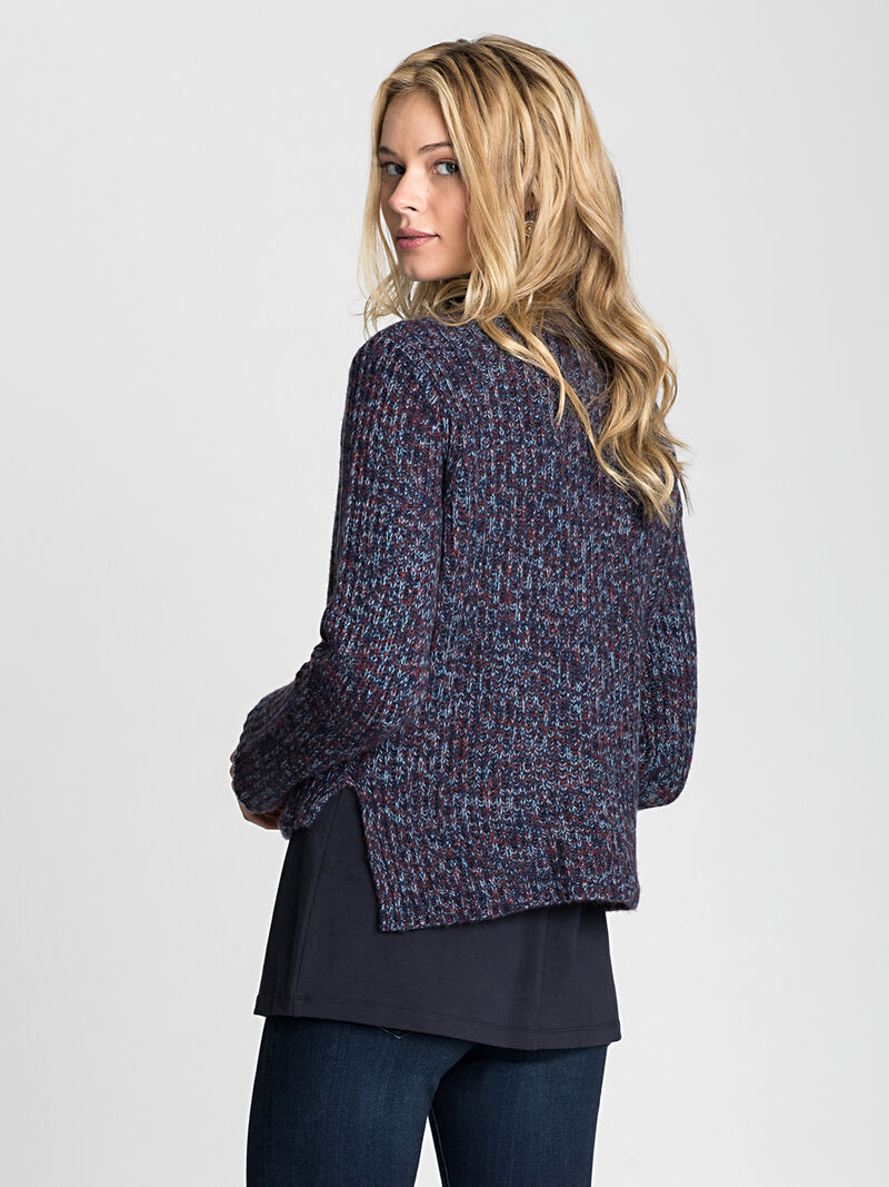 Mock Neck Crop Pullover image number 1