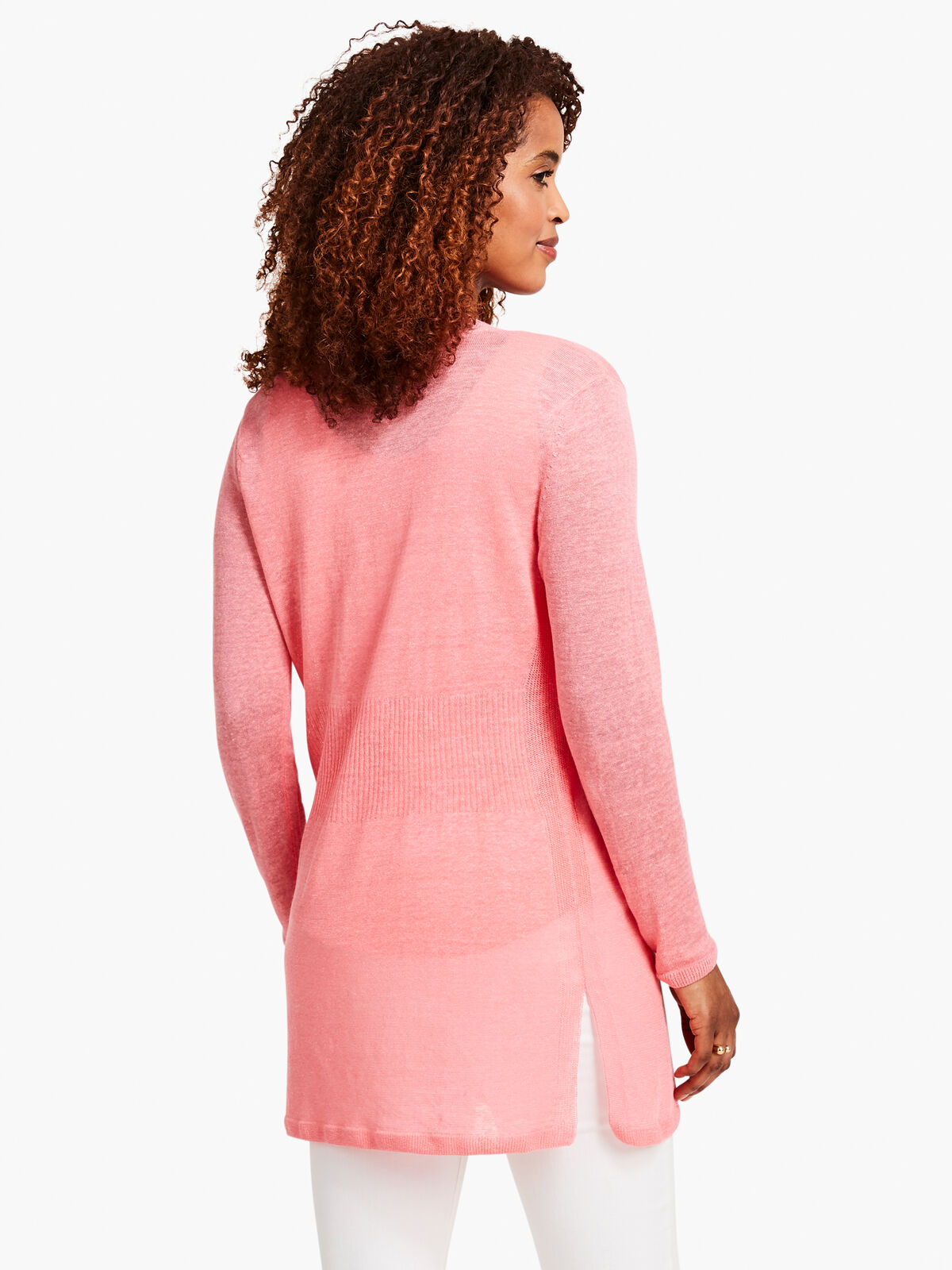 Lightweight Long Back of the Chair Cardigan