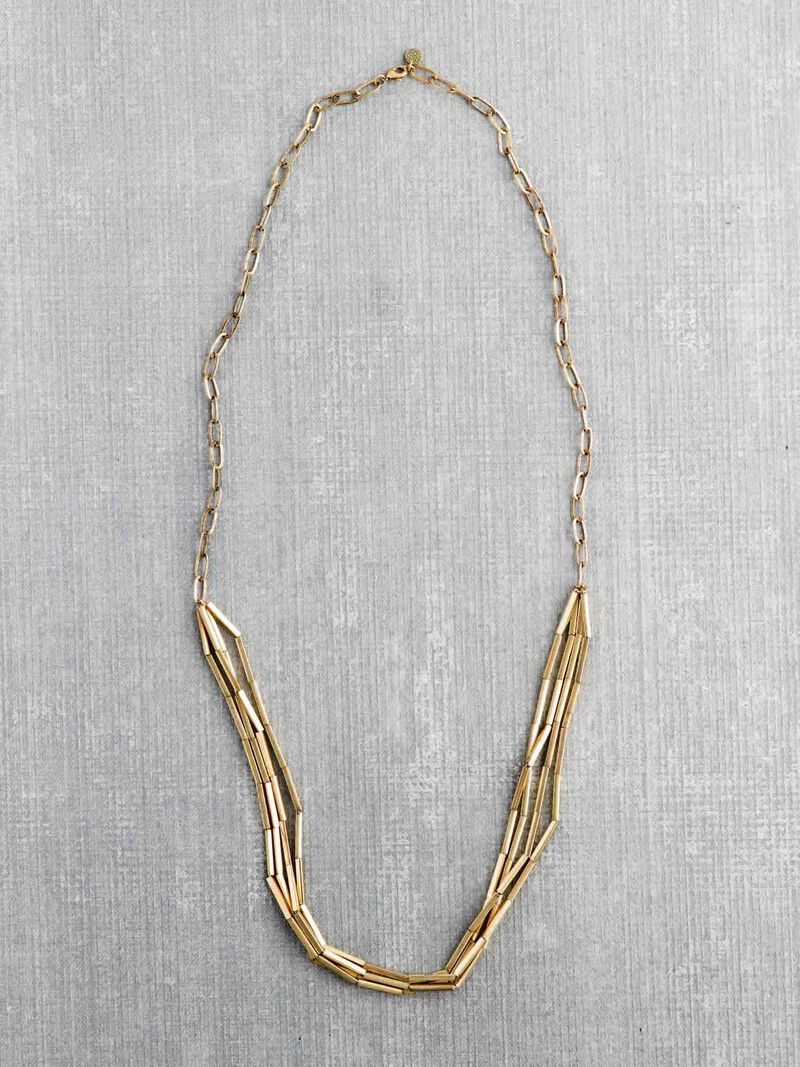 Marlyn Schiff Gold Link Necklace image number 0