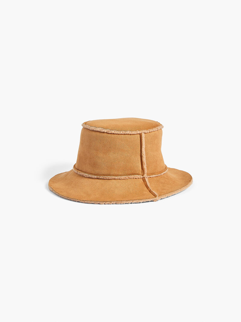 HAT ATTACK - FAUX SHERLING REVERSIBLE BUCKET HAT
