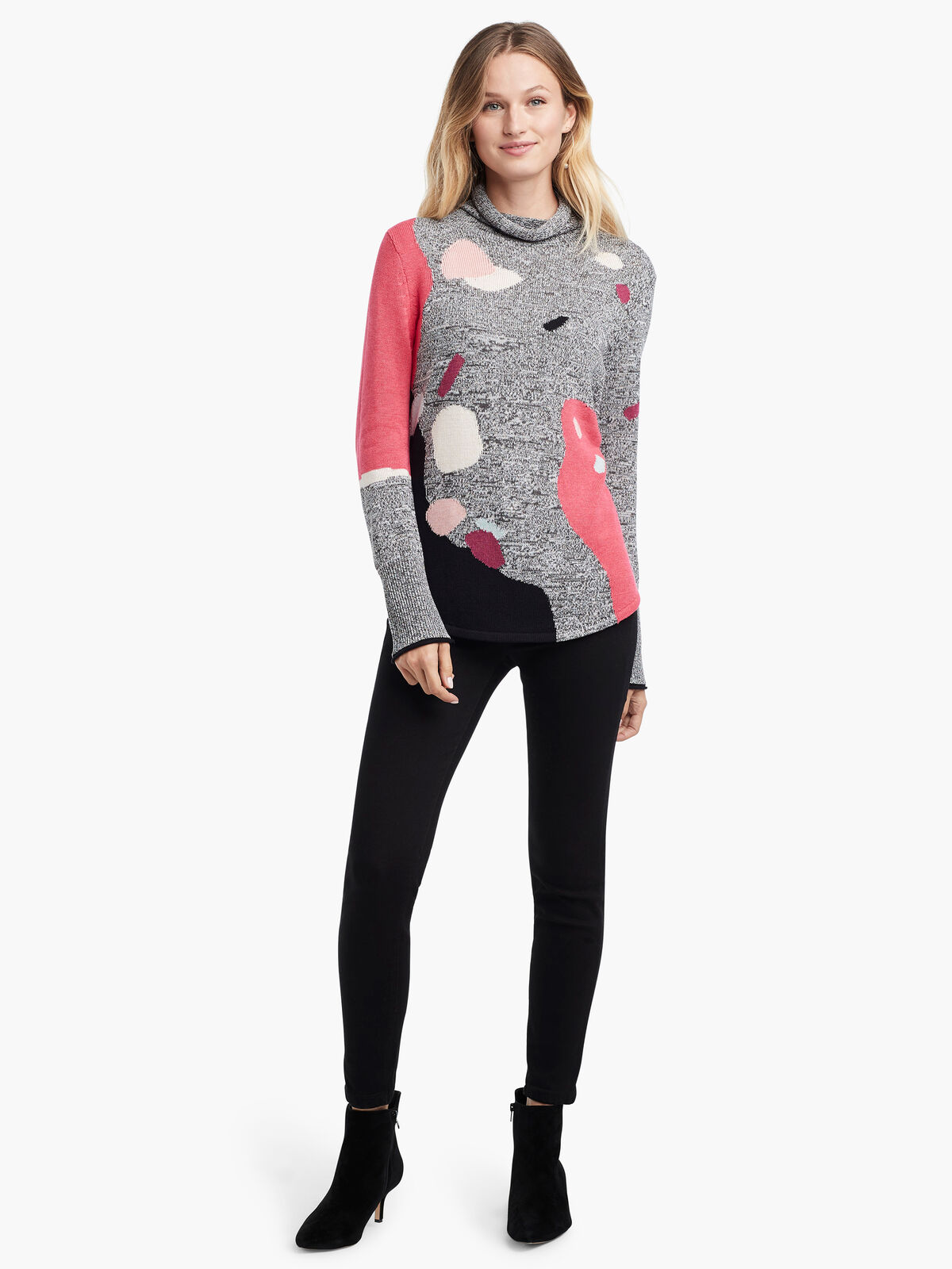 Abstract Intarsia Sweater